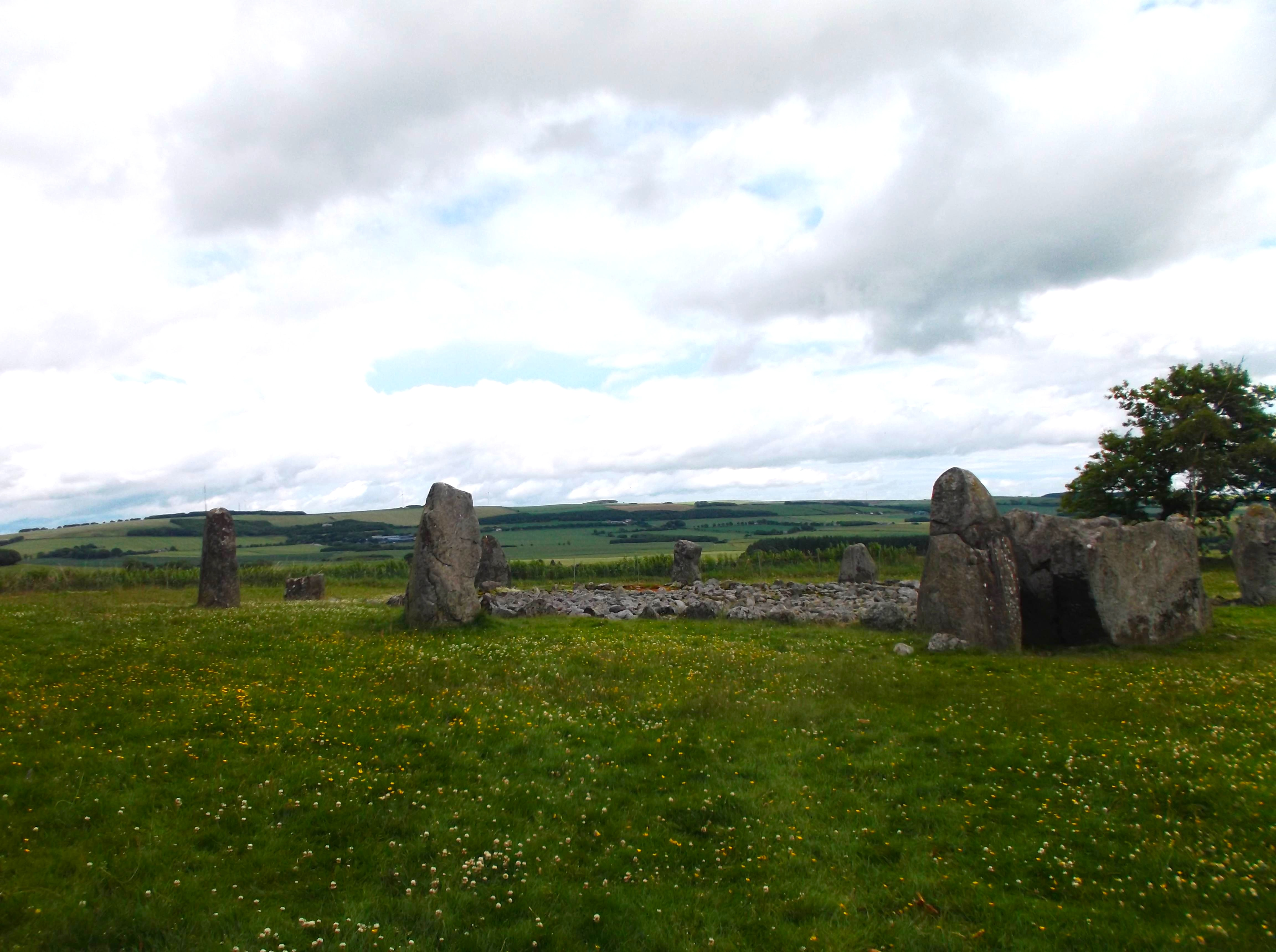 Prehistoric Stone Circles Called Standing Stone Circle Called